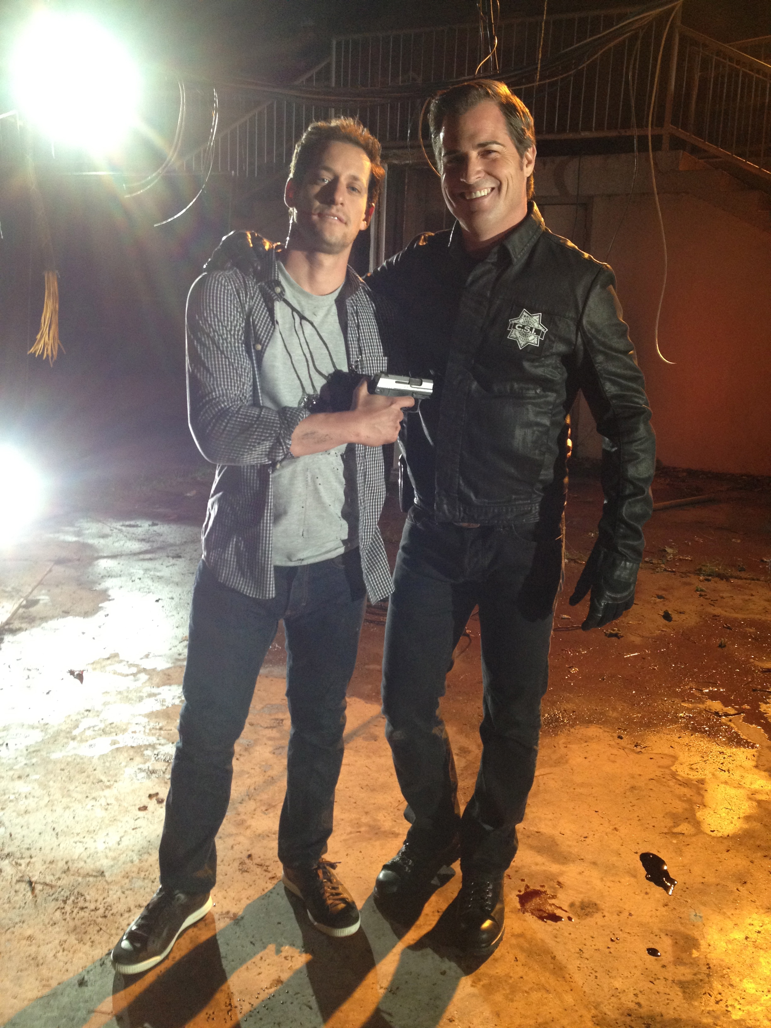 CSI Jeremy Glazer David Winnock guest star season finale Homecoming shoot George Eads
